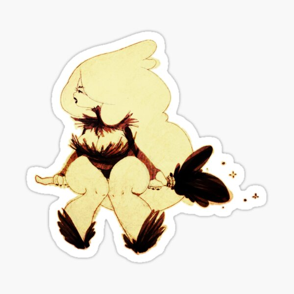 Bunny Witch Sticker