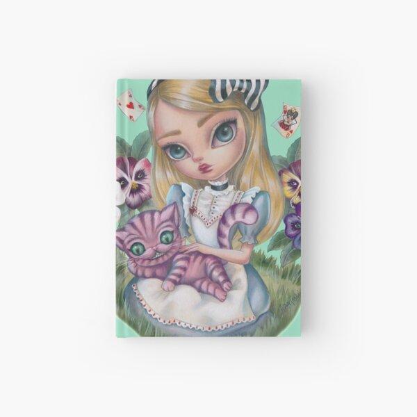 Alice In The Garden Of Pansies Hardcover Journal