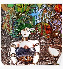 Mechanoid Planet [Colour Version] Poster