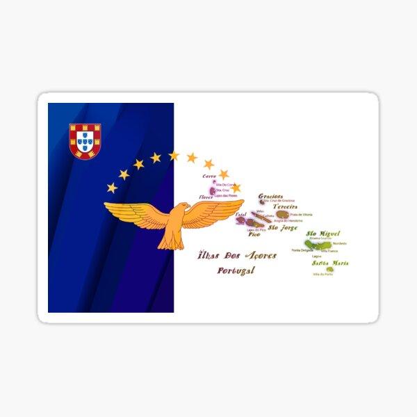 Art du drapeau des îles des Açores Sticker