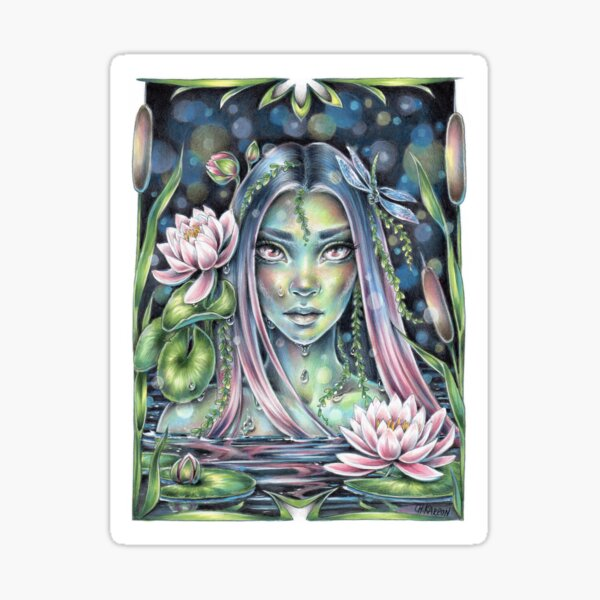 Water Nymph Sticker