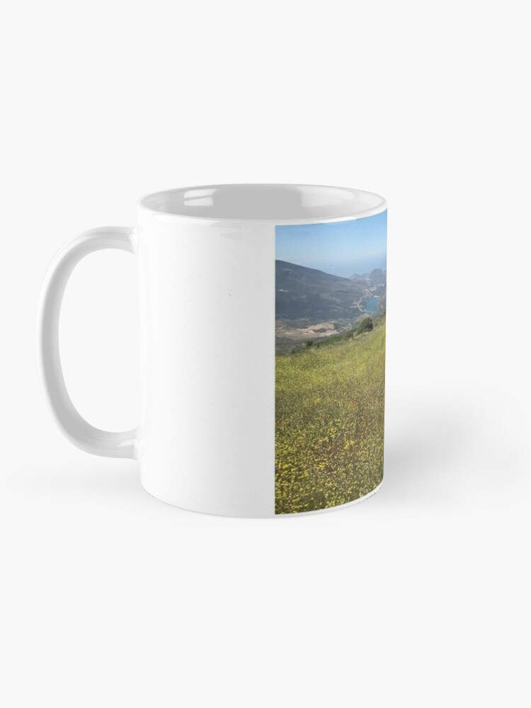 Alternate view of Zara and the yellow flower meadow Mug
