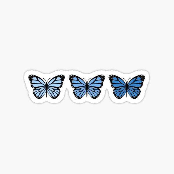 3 Blue Ombre Butterflies Sticker