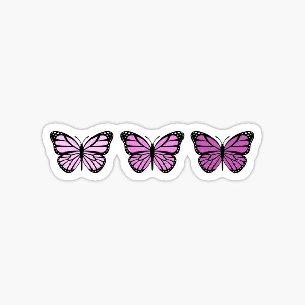 3 Pink Ombre Butterflies Sticker