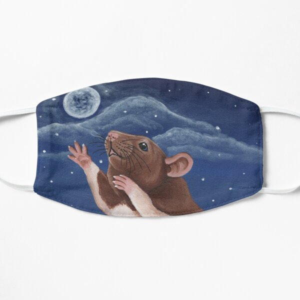 Agouti Brown Hooded Fancy Rat Reaching for the Moon Mask