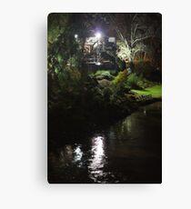 Riverside By Night Canvas Print