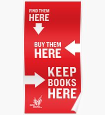 Keep Books Here Poster