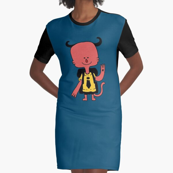 Little school demon Graphic T-Shirt Dress