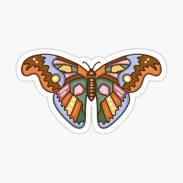 Cute Retro Moth Sticker