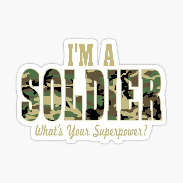 Soldier Superpower Camo Sticker