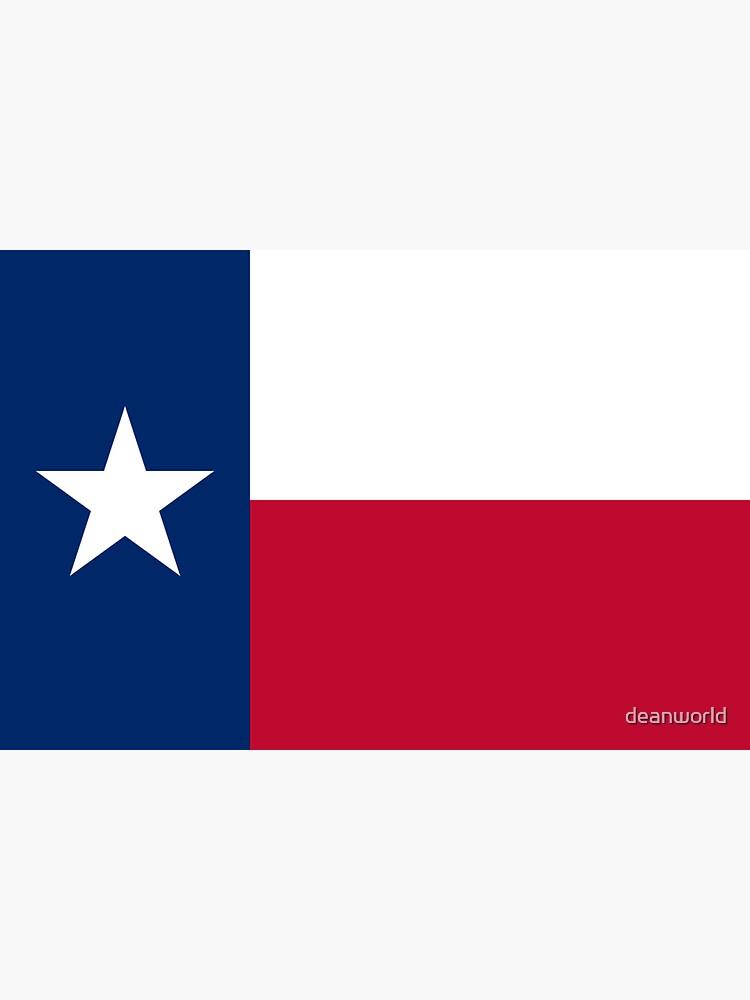 Texas Flag Texan USA - Lone Star T-Shirt Duvet Sticker by deanworld
