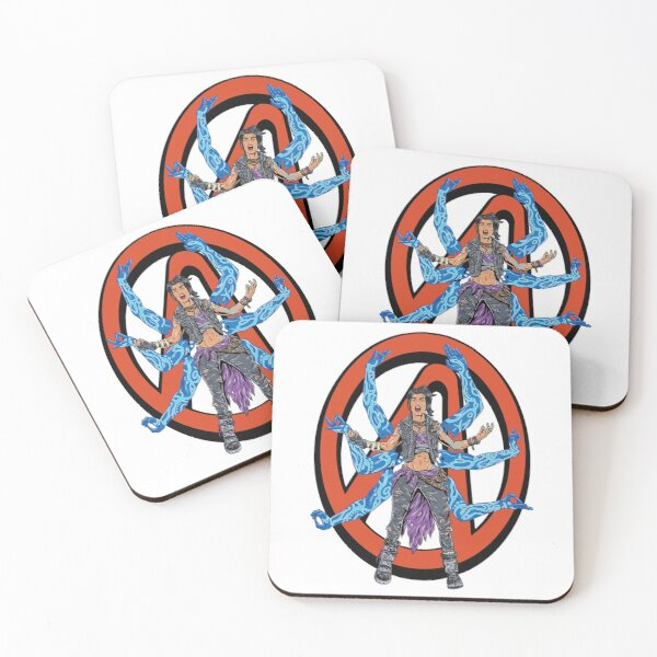 Amara The Siren Borderlands Vault Symbol The Tiger of Partali Coasters (Set of 4)