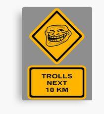 Trolls - kilometers Canvas Print