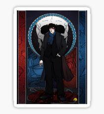 Sherlock Nouveau: Macabre Sherlock Holmes Sticker