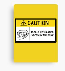 Caution - Trolls Canvas Print
