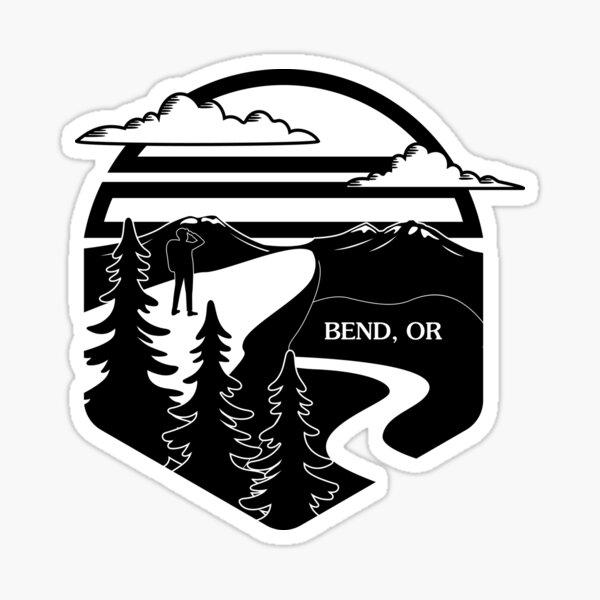 I ❤ Bend (Greyscale) Sticker