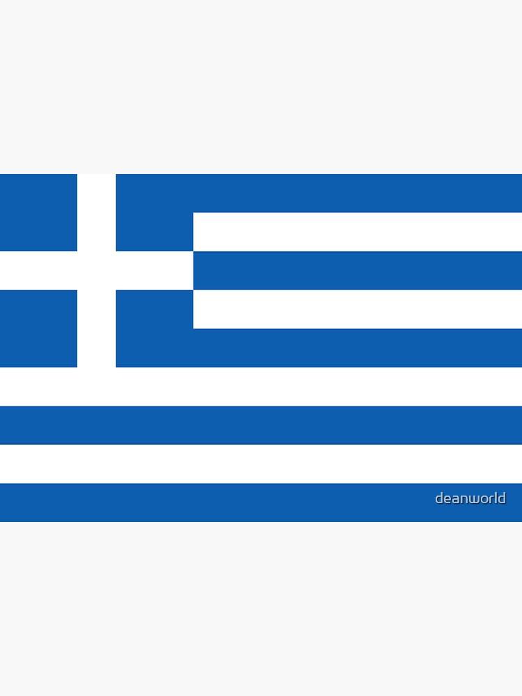 Greek National Flag T-Shirt - Greece Sticker by deanworld