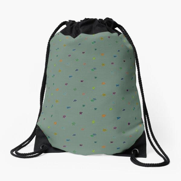 Coloured flowers Drawstring Bag