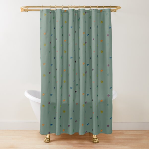 Coloured flowers Shower Curtain