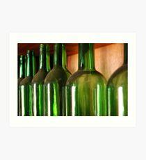 Green Bottles Art Print