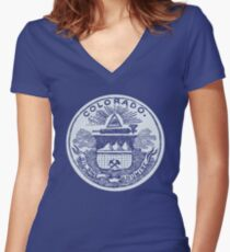 Colorado (Dark Tees) Women's Fitted V-Neck T-Shirt