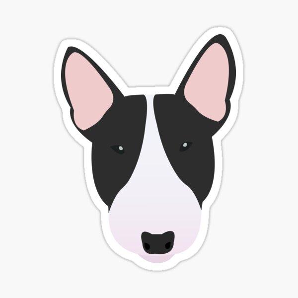 Black and White Miniature Bull Terrier Sticker