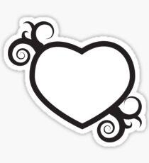 Single Hearts and Swirls Sticker