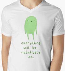 Relatively OK Men's V-Neck T-Shirt