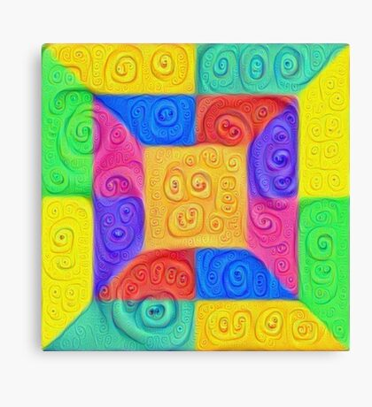 DeepDream Color Squares Visual Areas 5x5K v12 Canvas Print