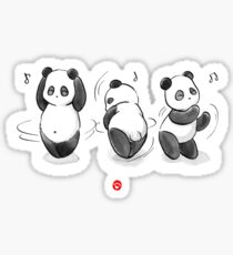 Panda Food Dance Sticker