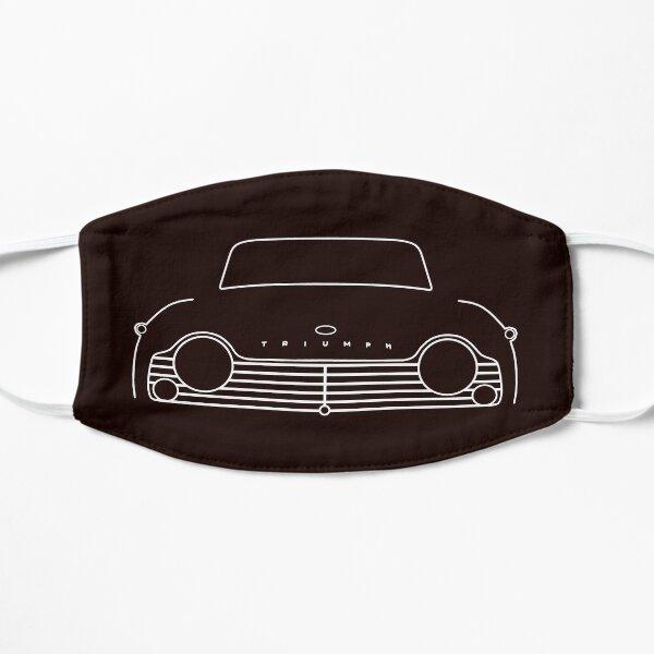 Triumph TR4A classic car white outline graphic Flat Mask