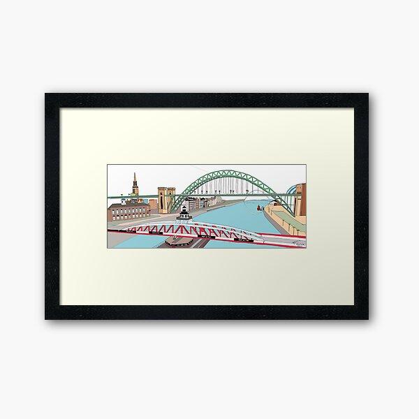 Swing, Tyne & Millennium Framed Art Print