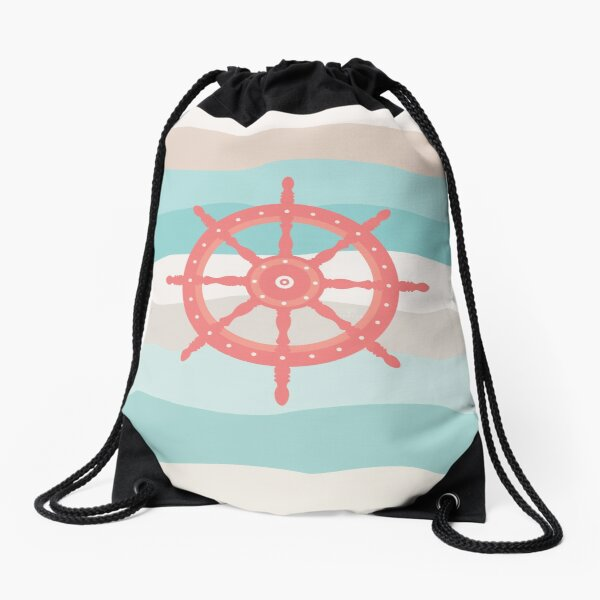 AFE Coral Helm Wheel Drawstring Bag