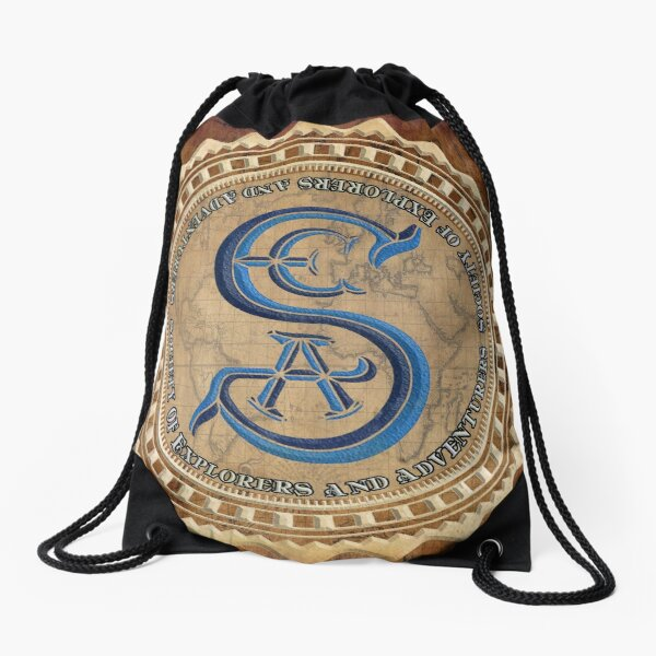 Society of Explorers and Adventurers Coasters Drawstring Bag