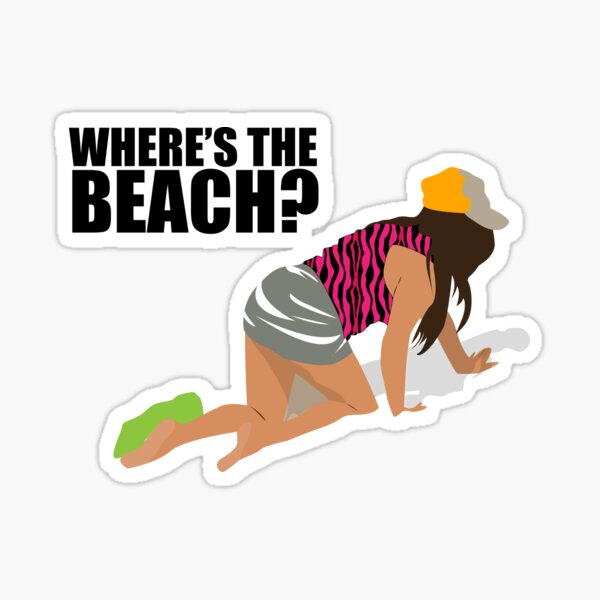 Snooki Where's the Beach? Sticker