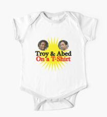 Troy and Abed on a T-Shirt One Piece - Short Sleeve