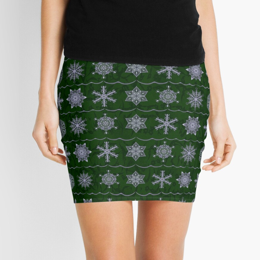 Silver Forest Flakes Mini Skirt