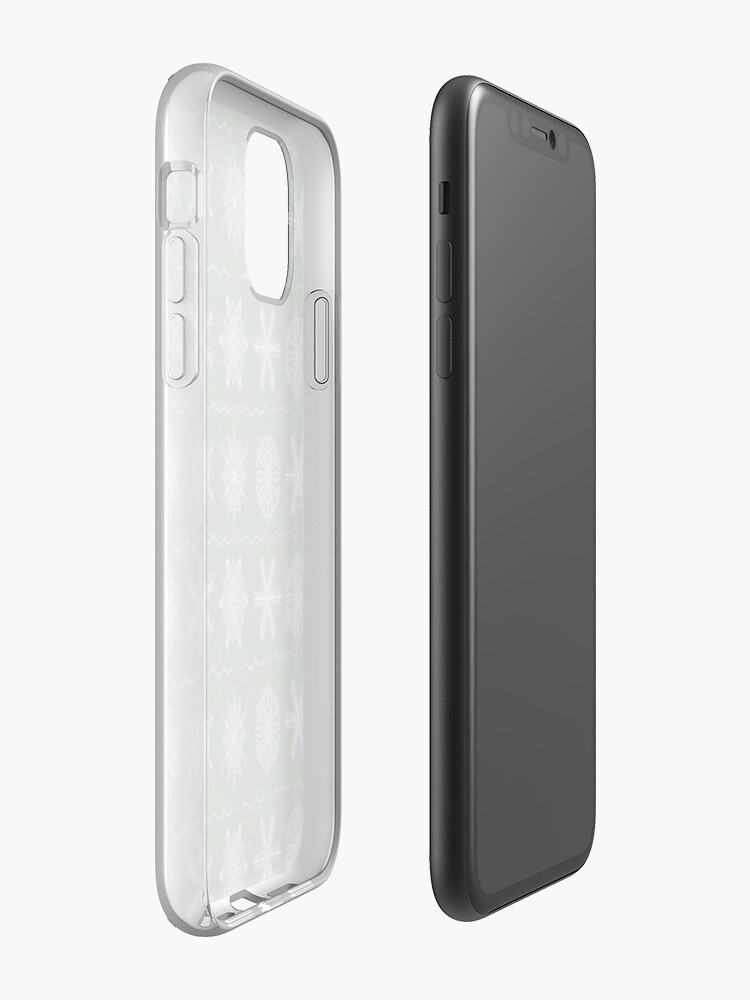 Alternate view of Silver Forest Flakes iPhone Case & Cover