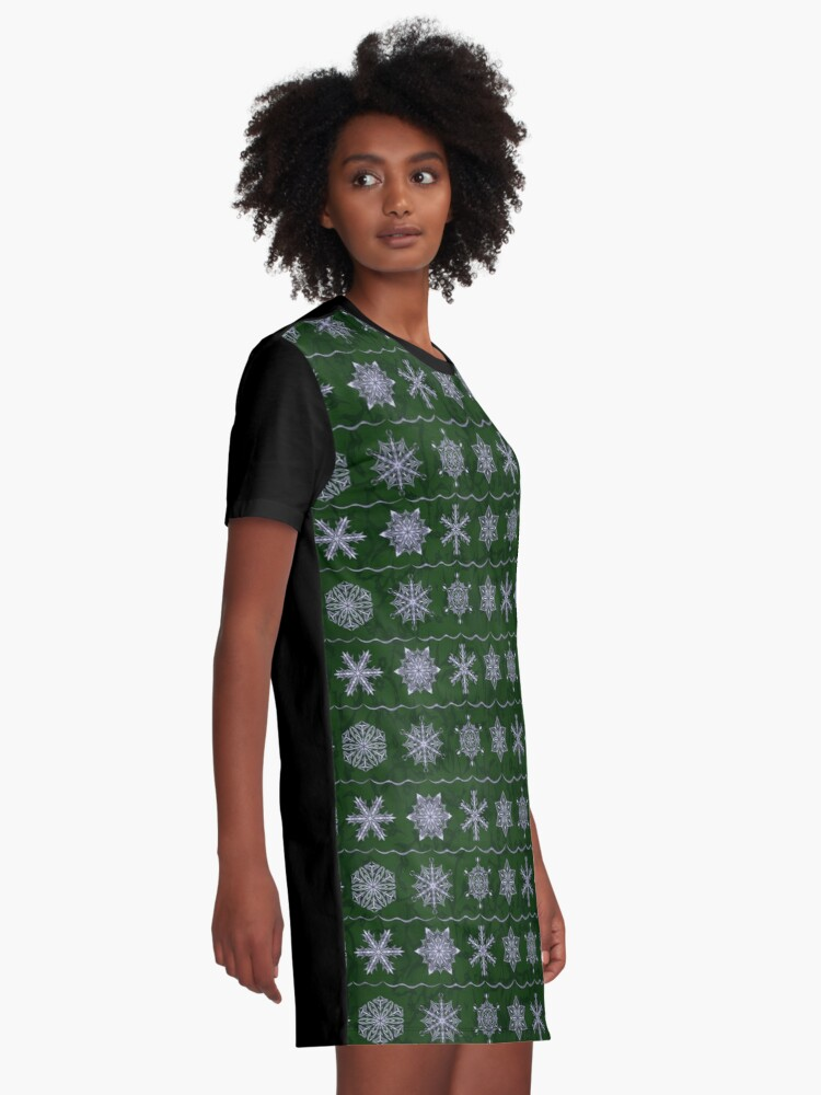 Alternate view of Silver Forest Flakes Graphic T-Shirt Dress