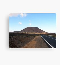 Journey to the volcano Canvas Print
