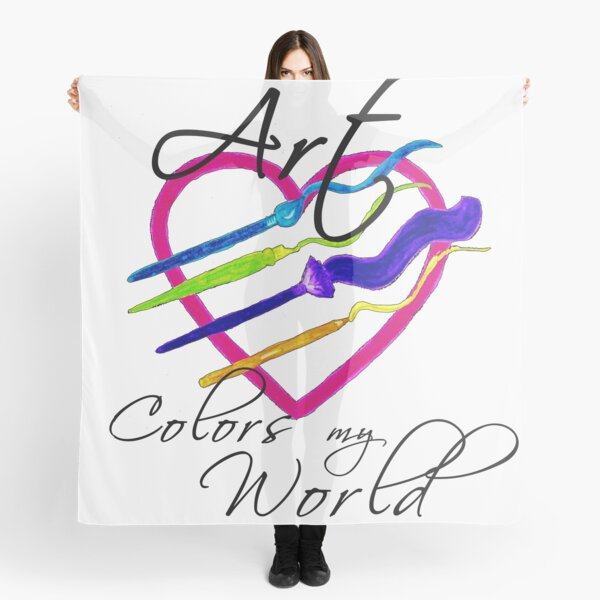 Art Colors My World  Scarf