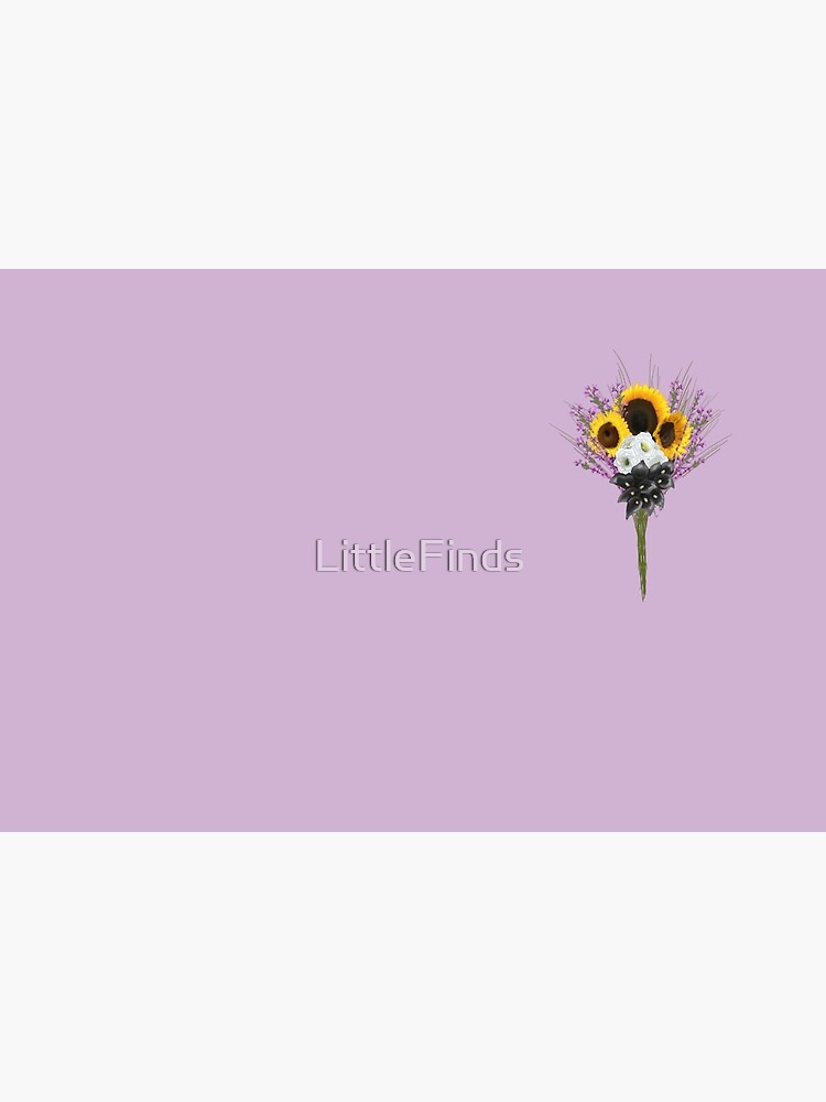 subtle non binary pride flowers by LittleFinds