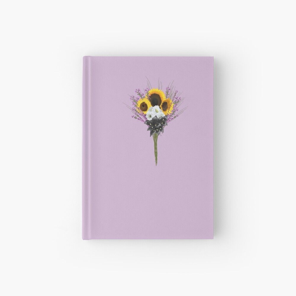 subtle non binary pride flowers Hardcover Journal