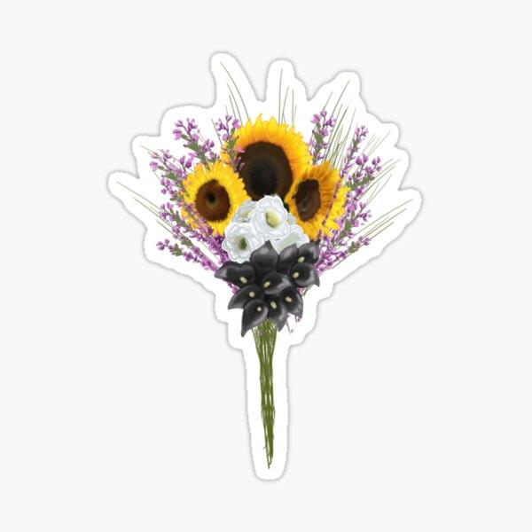 subtle non binary pride flowers Sticker