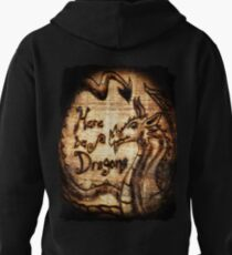Here be Dragons! Pullover Hoodie