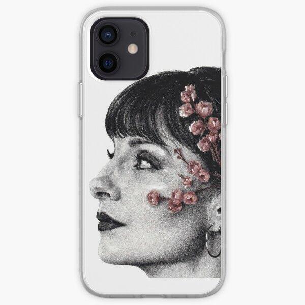 drawing of Najwa Nimri, florecer 2/3 iPhone Soft Case