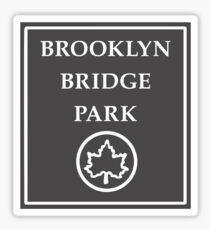 Brooklyn Bridge Park, New York City Park, USA Sticker