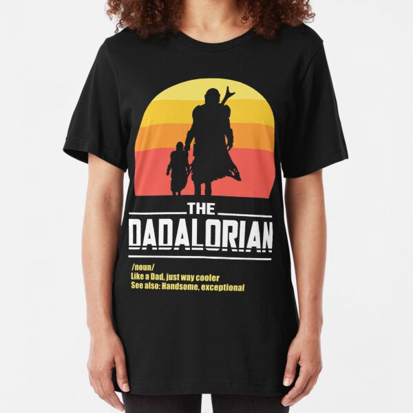 The Dadalorian Fathers Day Funny Meme Gift Slim Fit T-Shirt