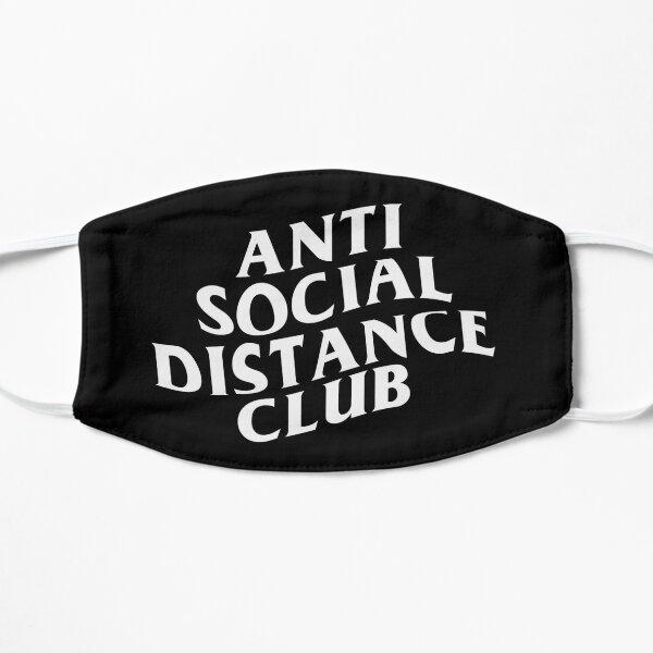 CLUB ANTIDISTANCIA SOCIAL Mascarilla plana