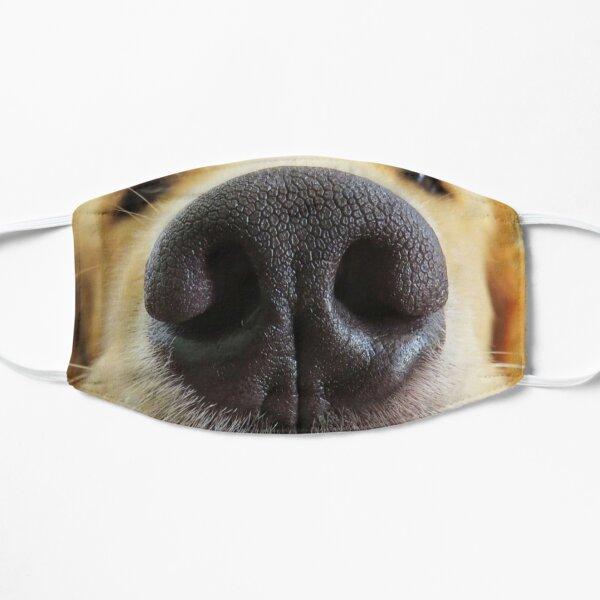 Dog muzzle fun face nose mask Flat Mask